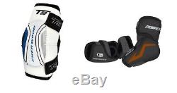 Nouveau Pantalon De Hockey Sur Glace Senior Gants Tibia Coudières Épaulières Sr Set Équipement