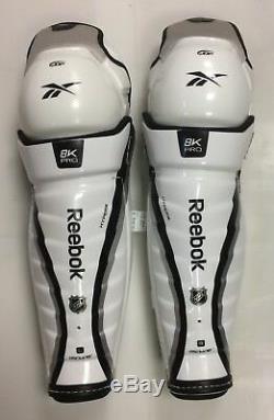 Nouveau Reebok 8k Pro Stock LNH (jofa 5090) 18 Protège-tibias Senior Hockey Sur Glace