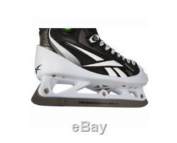 Nouveau Reebok Hockey Gardien De But Principal 10.0d Patins Hommes Skate Objectif Glace Noire Pompe
