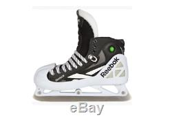 Nouveau Reebok Hockey Gardien De But Principal 10.5d Patins Hommes Skate Objectif Glace Noire Pompe