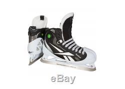 Nouveau Reebok Hockey Gardien De But Principal 11.5d Patins Hommes Skate Objectif Glace Noire Pompe