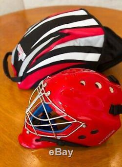 Nouveau Vaughn VM 9500 Goal Mask Red Casque De Gardien De But De Hockey Sur Glace Senior-l
