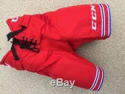 Nouveaux CCM Hp30 Pantalons Pro Hockey Sur Glace Stock Ushl Rouge Senior M / Bleu