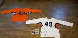 Nouvelle Équipe Jeu De 18 Hockey Sur Glace Maillots Orange / Blanc / Noir Adulte Troisième Tailles