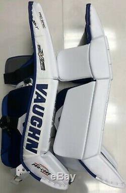 Nouvelles Jambières De Gardien Vaughn Pro V Elite Carbon Sr 33 + 1 Senior Hockey Sur Glace Bleu