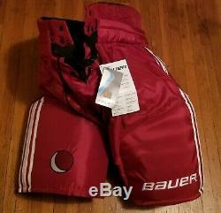 Nwt Principal Mens Bauer Pantalons De Hockey Sur Glace Ceinturon Shell Red Medium