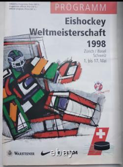 Programme Officiel De Hockey Sur Glace Championnat Mondial Senior 1998 De L'iihf, Suisse