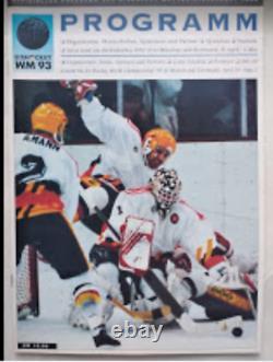 Programme Officiel De Hockey Sur Glace Championnat Mondial Senior De L'iihf 1993, Allemagne