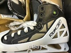 Reebok 5k Pompe Gardien De But De Hockey Sur Glace Patins Adulte / Haut Taille 9.5 D Nouveau Nos