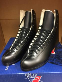 Riedell Ice Skates 375n Gold Star Retro Ancienne Version Mens Noir Taille 5.5