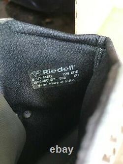 Riedell Modèle 229 Edge Patins À Glace Blanc 5,5 M Avec Lames Cosmos 319 $ Ret