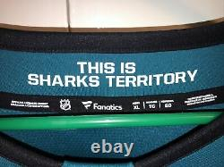 San Jose Sharks Jersey XL Fanatique Senior Breakaway Accueil LNH Hockey Sur Glace