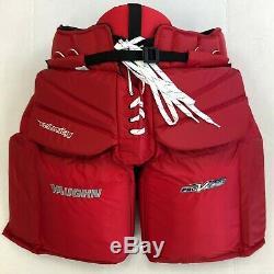 Vaughn V Elite Xr Pro Glace Sr Carbon Haut XL 42 Pantalon De Gardien De But De Hockey Rouge Nouveau