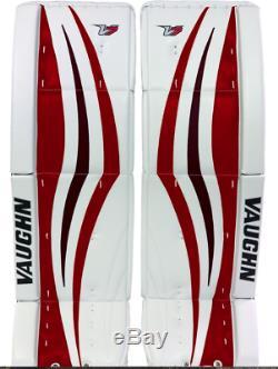 Vaughn V7 Xr Pro Sr / Senior Jambières Gardien De But De Hockey Sur Glace Blanc Noir Rouge