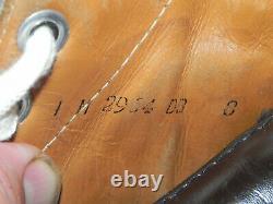 Vintage 1970's 80's CCM Tacks Patins De Hockey Sur Glace Taille En Cuir Brun 8 Nib