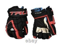 Vrai Xc9 XC 9 Zp Zip Palms Senior Sr 15 Pouces Gants De Hockey Sur Glace Noir Et Rouge